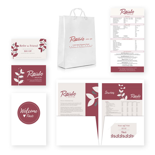 Tactics Branding Print Sample Rituals Salon and Spa